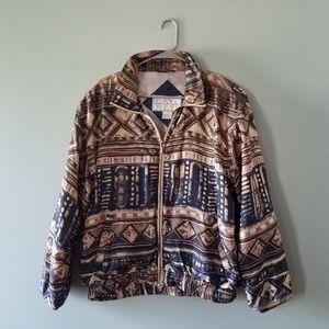 Vintage silk windbreaker jacket